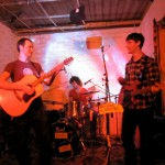 Berlin-based post-punk-pop band Skiing play at the B EAST party - their debut gig